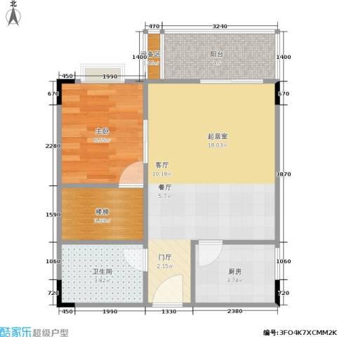 光宇阳光新世界1室0厅1卫1厨44.00㎡户型图