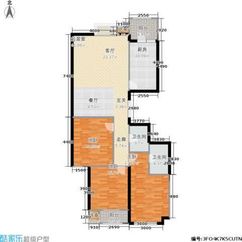 太原君泰风尚国际3室0厅2卫1厨162.00㎡户型图