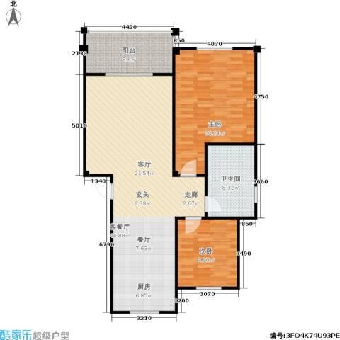 红豆佳苑一期2室1厅1卫0厨122.00㎡户型图