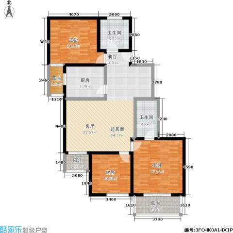晟丰阁3室0厅2卫1厨121.00㎡户型图