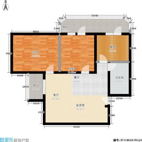 椿秀园2室0厅1卫1厨102.00㎡户型图