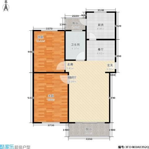 金磊苑2室1厅1卫1厨93.00㎡户型图