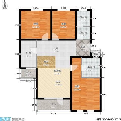 德邑新时空3室0厅3卫1厨133.00㎡户型图