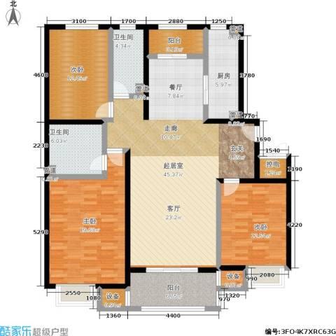 中景・盛世长安3室0厅2卫1厨152.00㎡户型图