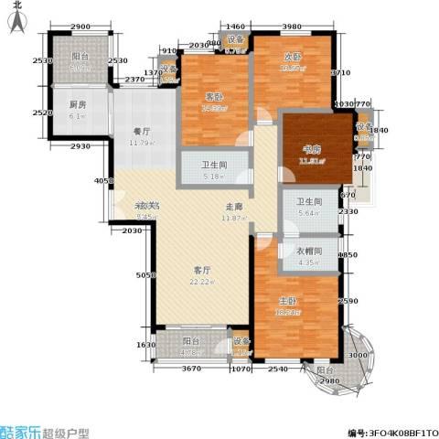 中景・盛世长安4室0厅2卫1厨175.00㎡户型图