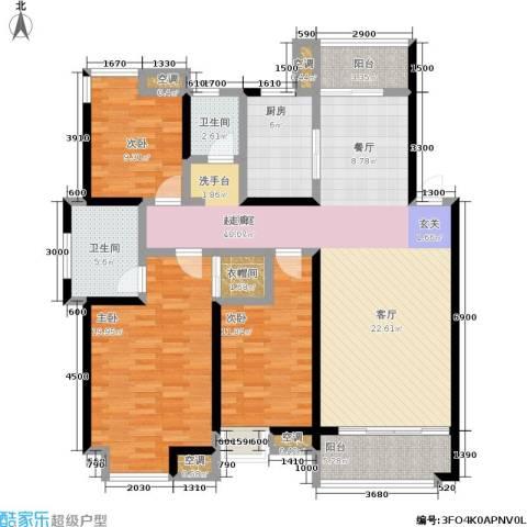 岸上玫瑰 岸上玫瑰 政务区 合肥3室0厅2卫1厨111.04㎡户型图