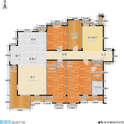 唯美品格3室1厅2卫0厨217.00㎡户型图