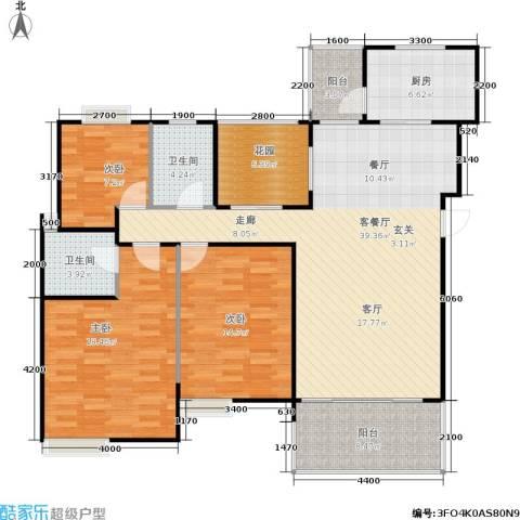 朗悦湾3室1厅2卫1厨120.00㎡户型图