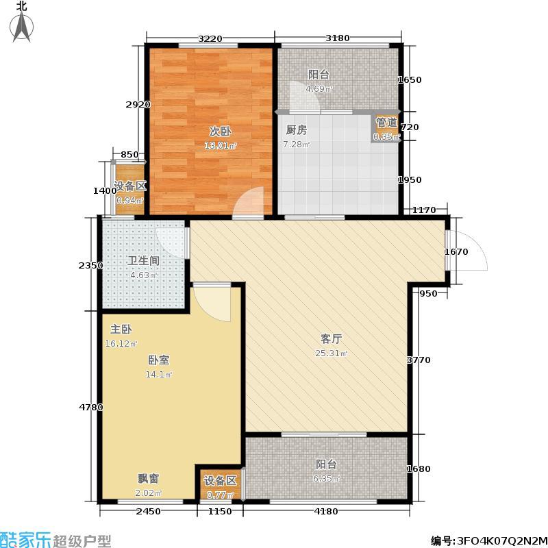 大观国际金林大观国际居住区85.00㎡二期B5精致户型
