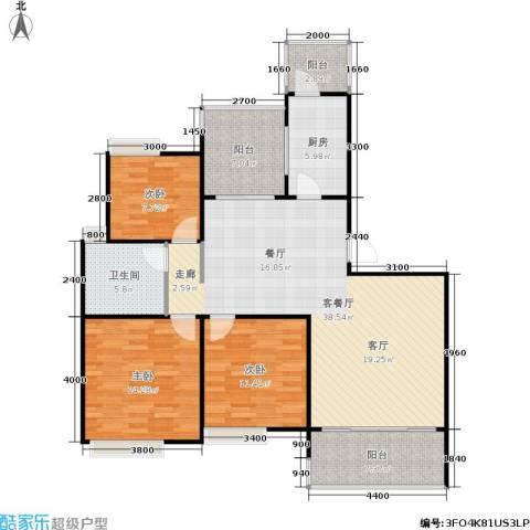 朗悦湾3室1厅1卫1厨118.00㎡户型图