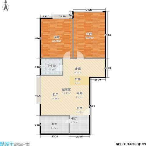 遂州大厦2室0厅1卫1厨89.73㎡户型图