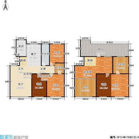 盛华苑4室0厅3卫1厨254.42㎡户型图