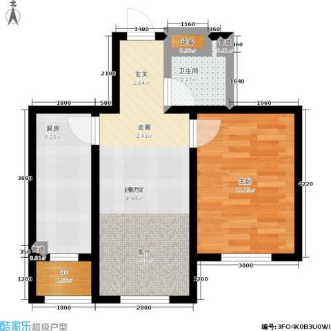 中房上东花墅1室0厅1卫1厨56.00㎡户型图