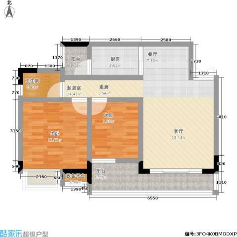 巴山星韵2室0厅1卫1厨86.00㎡户型图