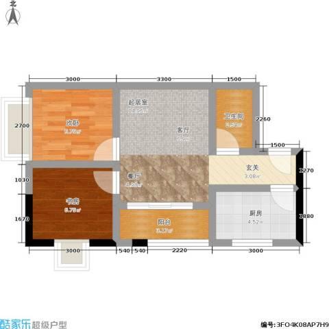 城市阳光2室0厅1卫1厨59.00㎡户型图