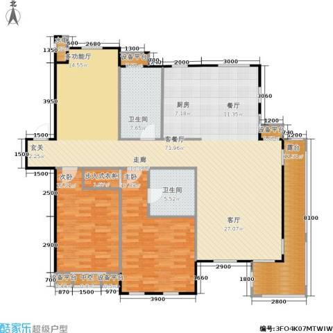唯美品格2室1厅2卫0厨181.00㎡户型图
