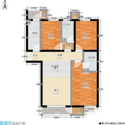 中景・盛世长安3室0厅2卫1厨131.00㎡户型图