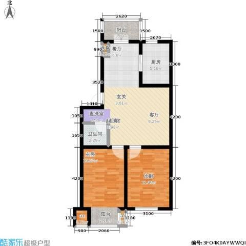 中房上东花墅2室0厅1卫1厨89.00㎡户型图