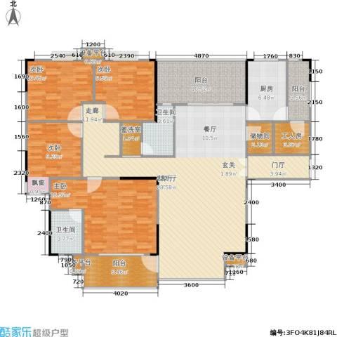 岳泰・理想城4室1厅2卫1厨193.00㎡户型图