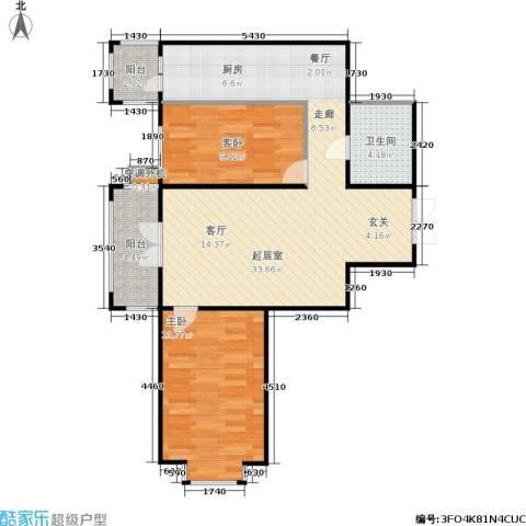 蓝天荣府2室0厅1卫0厨73.60㎡户型图