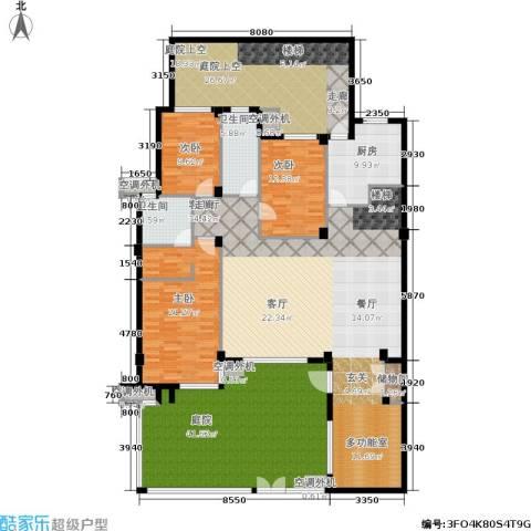 万科新榆公馆一期3室1厅2卫1厨283.00㎡户型图