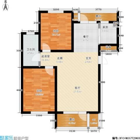 中房上东花墅2室0厅1卫1厨94.00㎡户型图