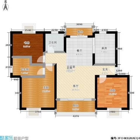 尊园3室0厅2卫1厨98.00㎡户型图