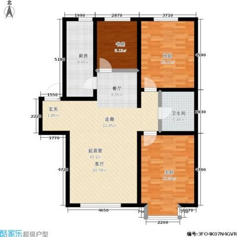 幻景家园3室0厅1卫1厨135.00㎡户型图