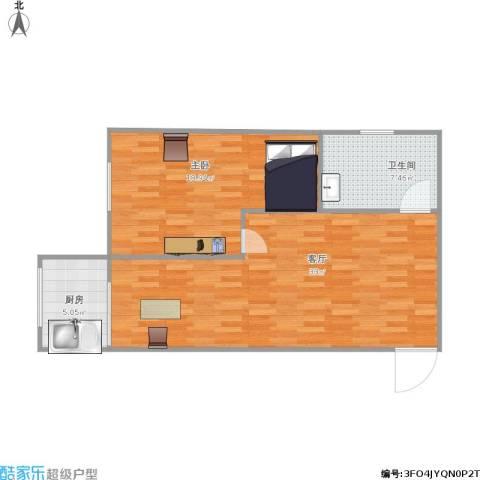 安居花园1室1厅1卫1厨86.00㎡户型图