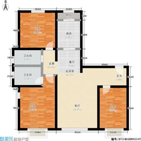 幻景家园3室0厅2卫1厨120.00㎡户型图