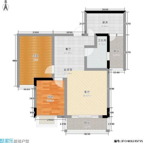 斌鑫中央时代2室0厅1卫1厨71.00㎡户型图