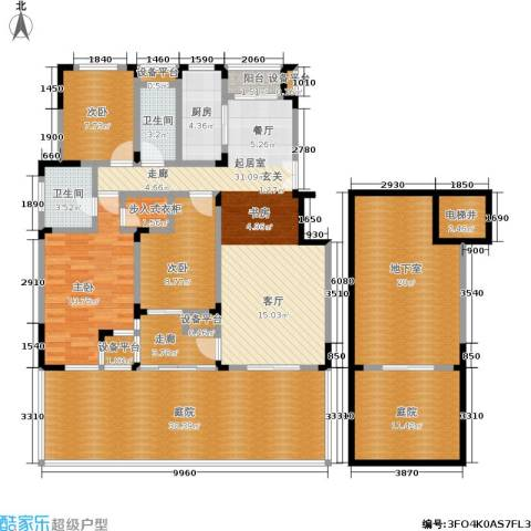 南山巴黎印象3室0厅2卫1厨145.70㎡户型图