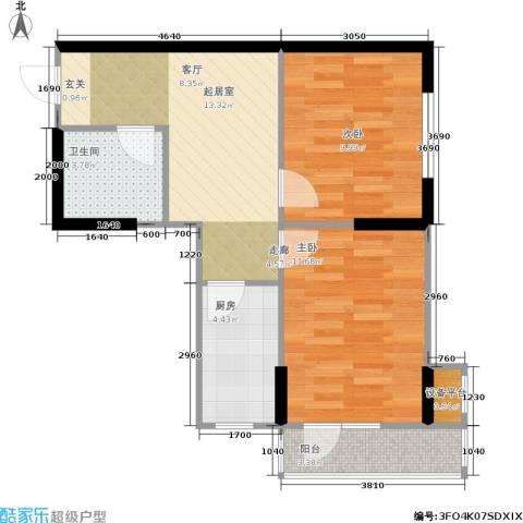 思和苑2室0厅1卫1厨66.00㎡户型图
