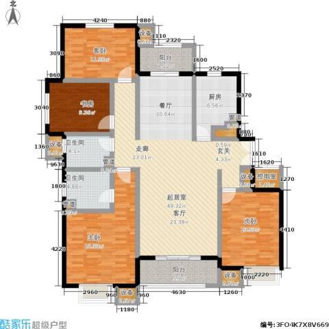 中景・盛世长安4室0厅2卫1厨156.00㎡户型图