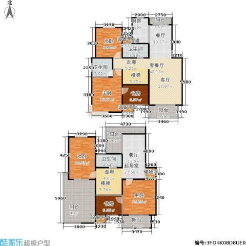 名园臻舍6室1厅3卫1厨214.00㎡户型图