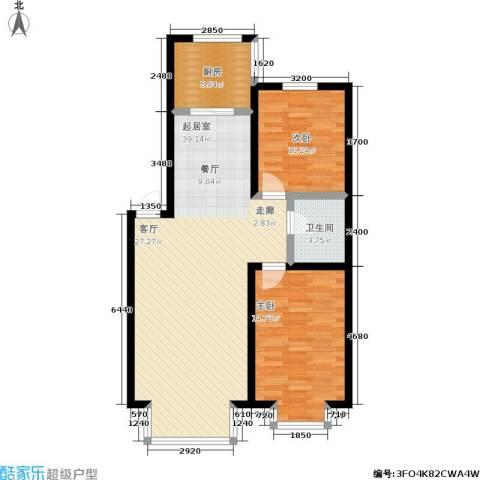 阳光维也纳2室0厅1卫1厨80.00㎡户型图