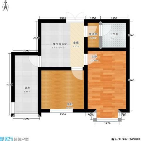 阳光维也纳2室0厅1卫1厨50.00㎡户型图