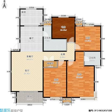 名园臻舍4室1厅2卫1厨141.00㎡户型图