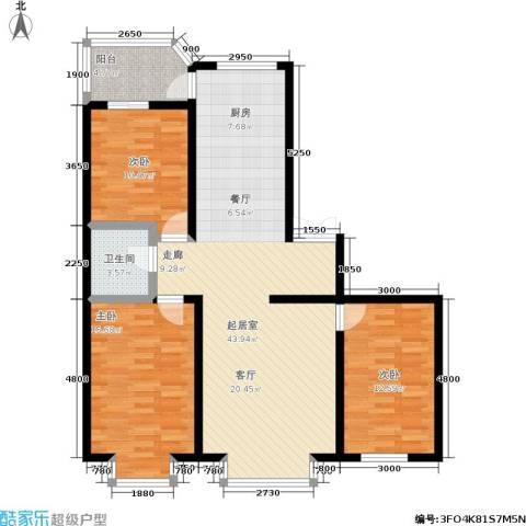 阳光维也纳3室0厅1卫0厨110.00㎡户型图
