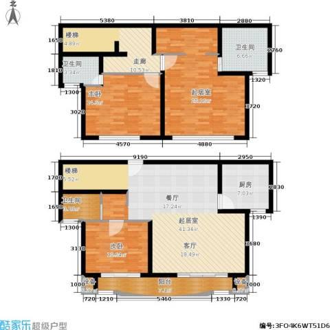 东兰兴城惠兰苑2室0厅3卫1厨188.00㎡户型图