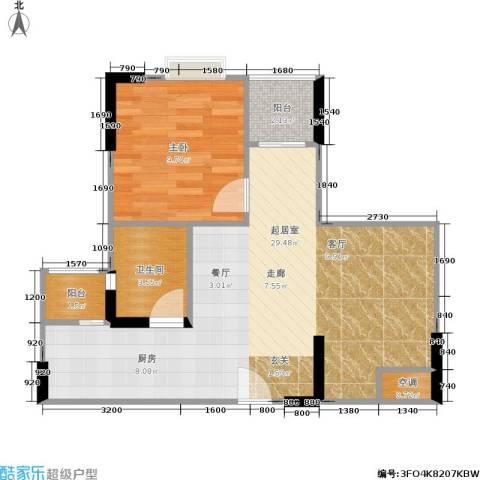 汇盛发展大厦1室0厅1卫0厨65.00㎡户型图
