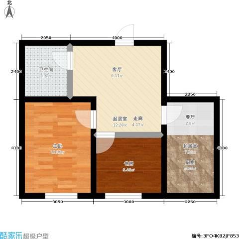 明颂华庭2室0厅1卫0厨57.00㎡户型图