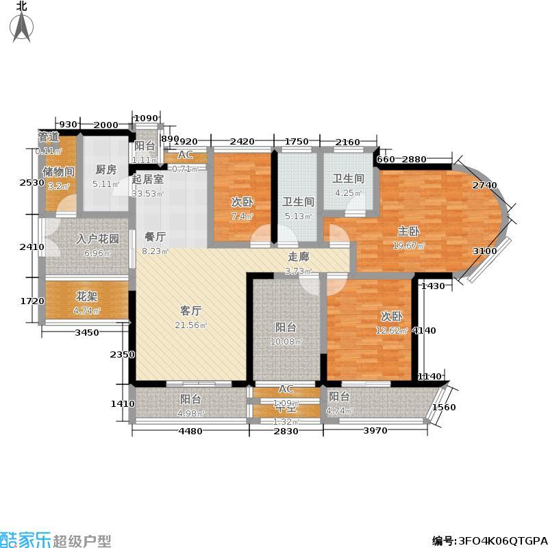 凯旋MIMA金泓凯旋城12栋A、B、C座CE单元3室户型