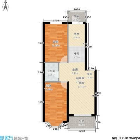金水嘉园2室0厅1卫0厨85.00㎡户型图