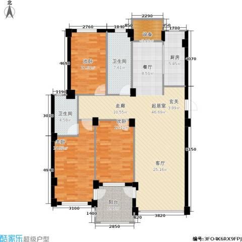金润花园一期3室0厅2卫1厨158.00㎡户型图