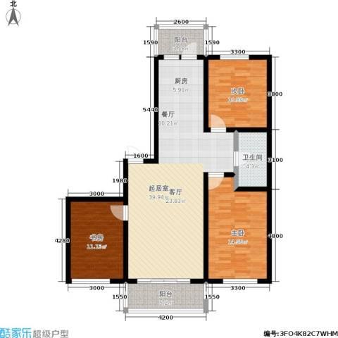 伸马梧桐湾3室0厅1卫0厨128.00㎡户型图