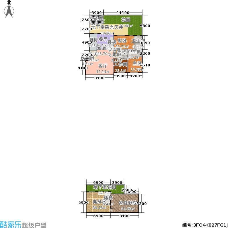 锋尚国际公寓250.00㎡C1户型