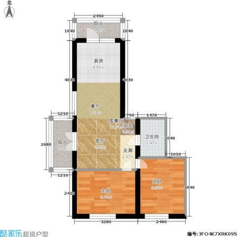 新发田园小区2室1厅1卫0厨54.00㎡户型图
