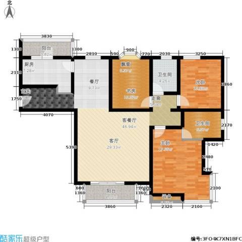 城建花园3室1厅2卫1厨161.00㎡户型图
