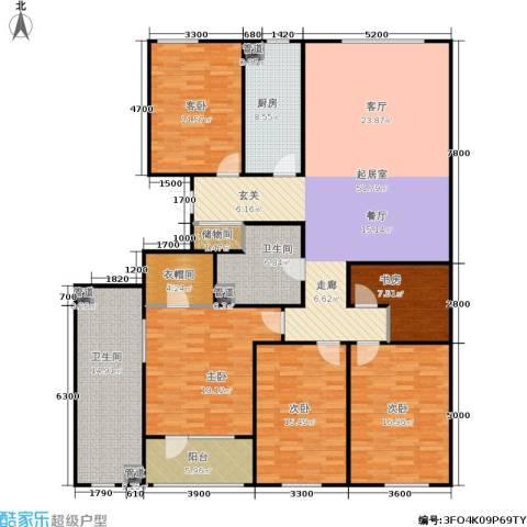 朗诗国际街区5室0厅2卫1厨167.57㎡户型图